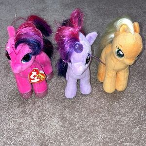 "Ty ponies 6 1/2"" plush"